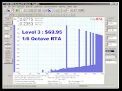 TrueRTA Audio Spectrum Analyzer Software